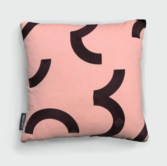 Image of Contour Pompador embroidered cushion by Custhom