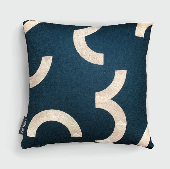 Image of Contour Cardinal embroidered cushion by Custhom