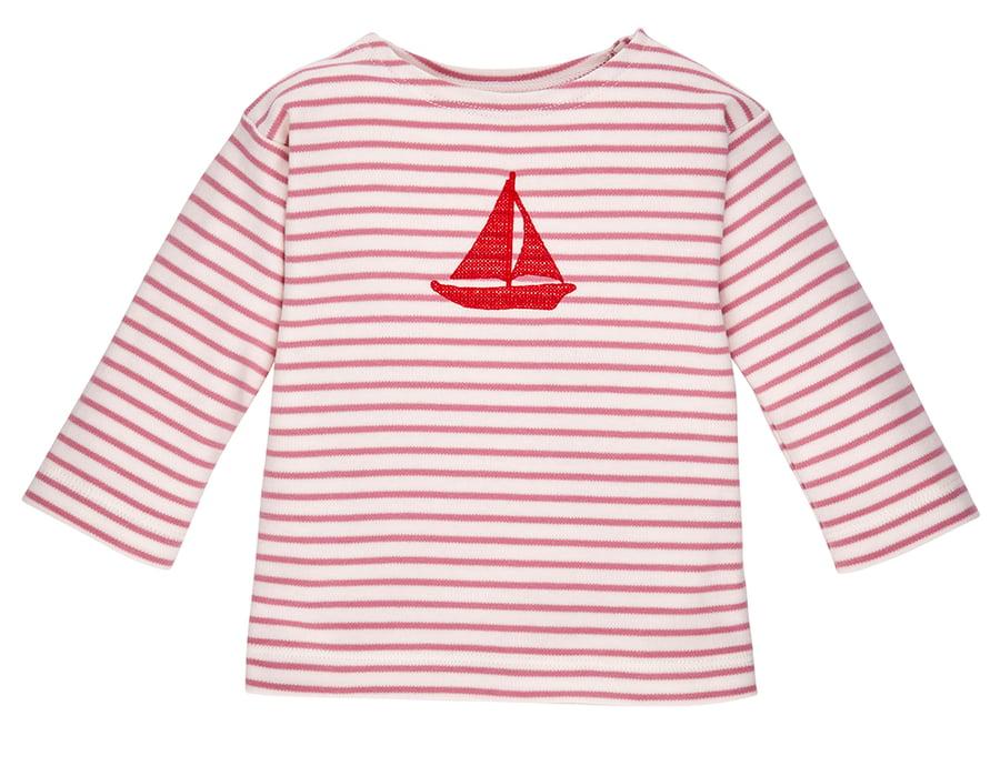 Image of SOMMER PREIS* T-Shirt mit einem gesticktenSegelboot
