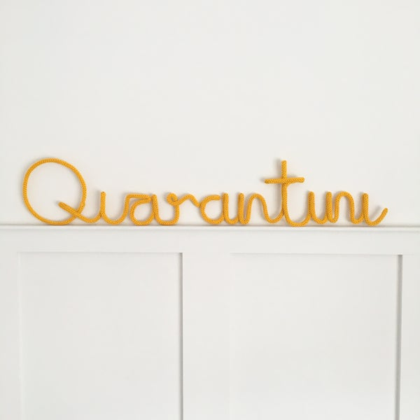 Image of Quarantini Knitted Wire Word