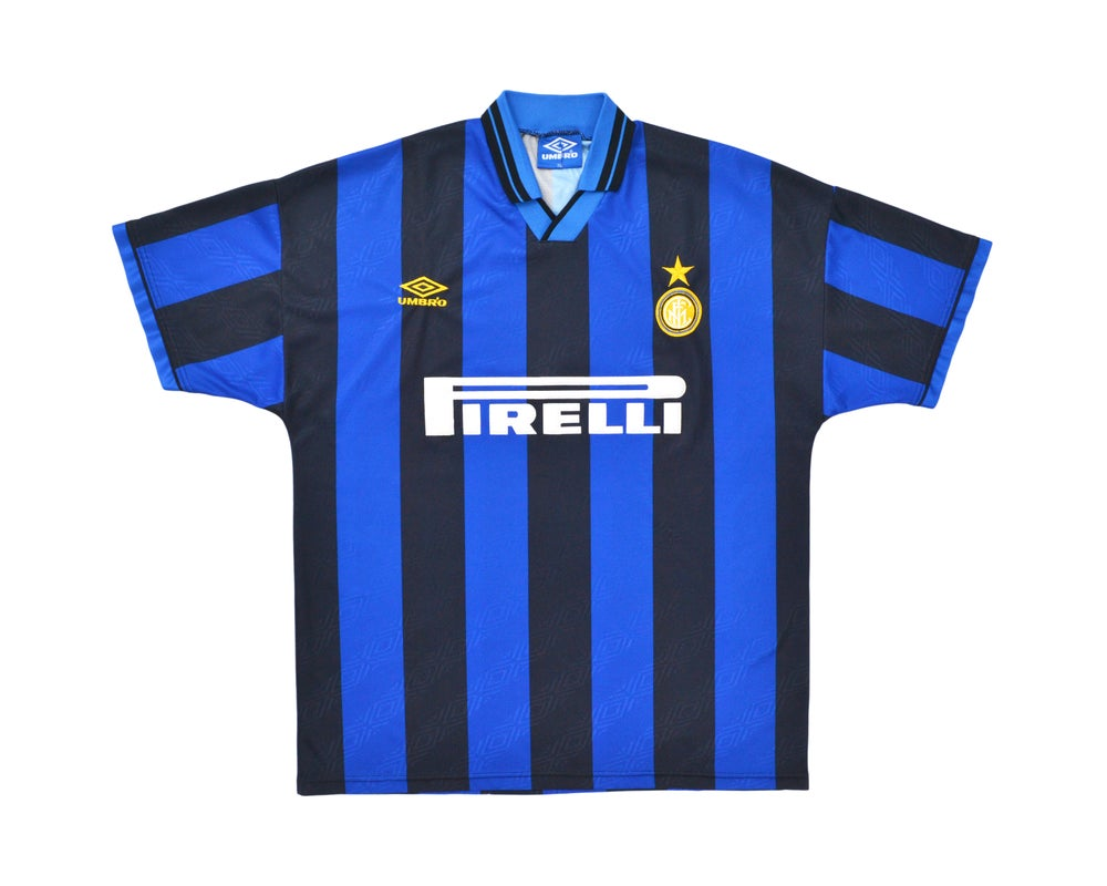 Image of 1995-96 Umbro Inter Milan Home Shirt XL