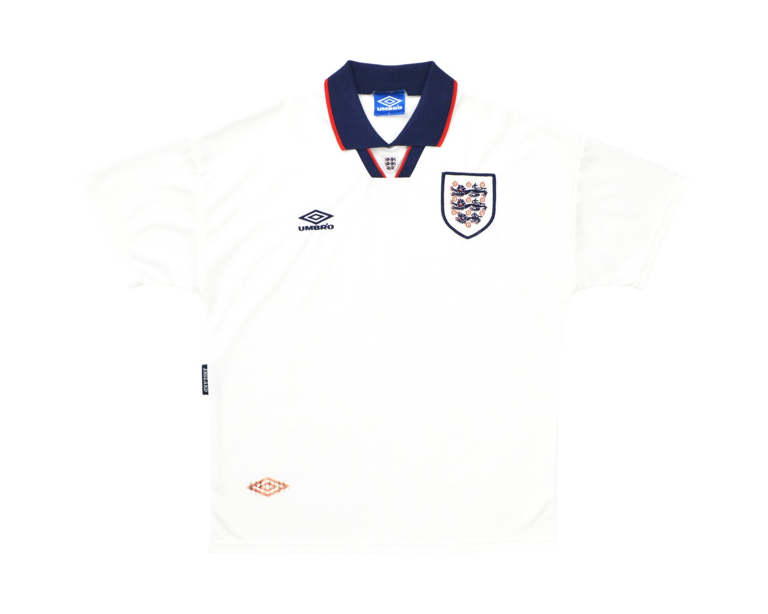 Image of 1993-95 Umbro England Home Shirt L