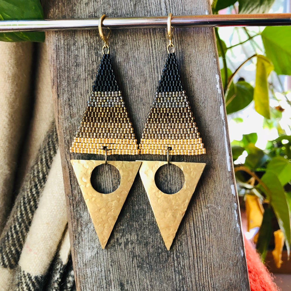 Image of ECLIPSE - Ombré Triangle Drop Earrings