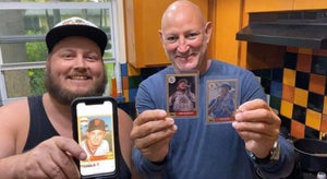 Image of #1 1987 Topps autographed Josh Heinrichs baseball card w/ case