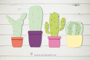 Image of Pack imprimible cactus party