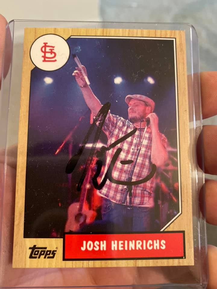 Image of #2 1987 Topps autographed Josh Heinrichs baseball card w/ cases