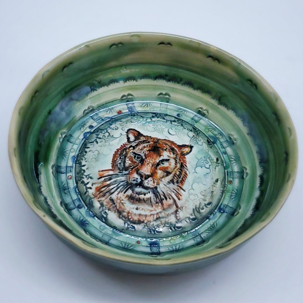Image of Tiger Porcelain Dish