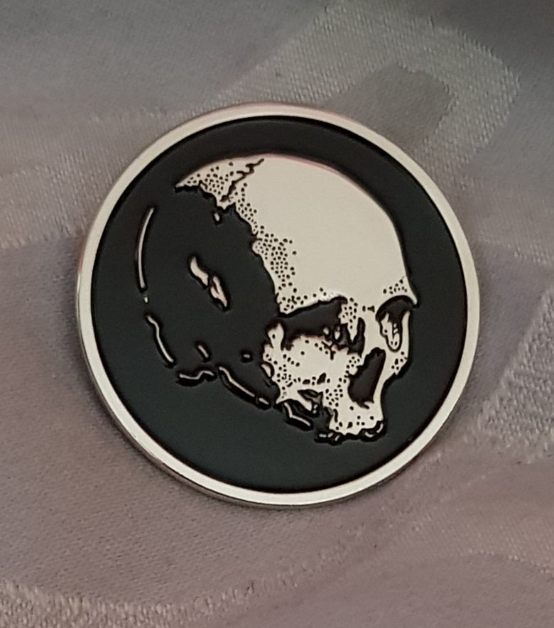 Image of Deathcult II limited edition circular enamel pin