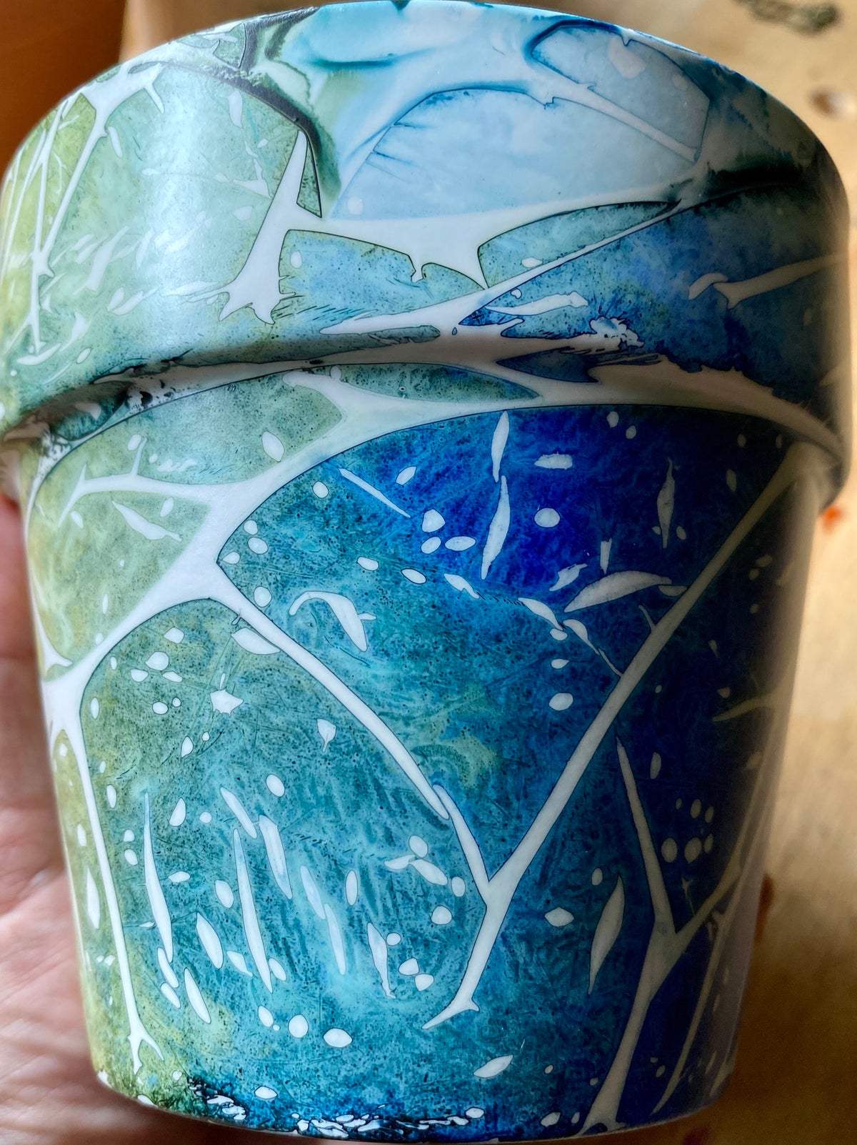 Image of Thicket Pot - Green and Blue
