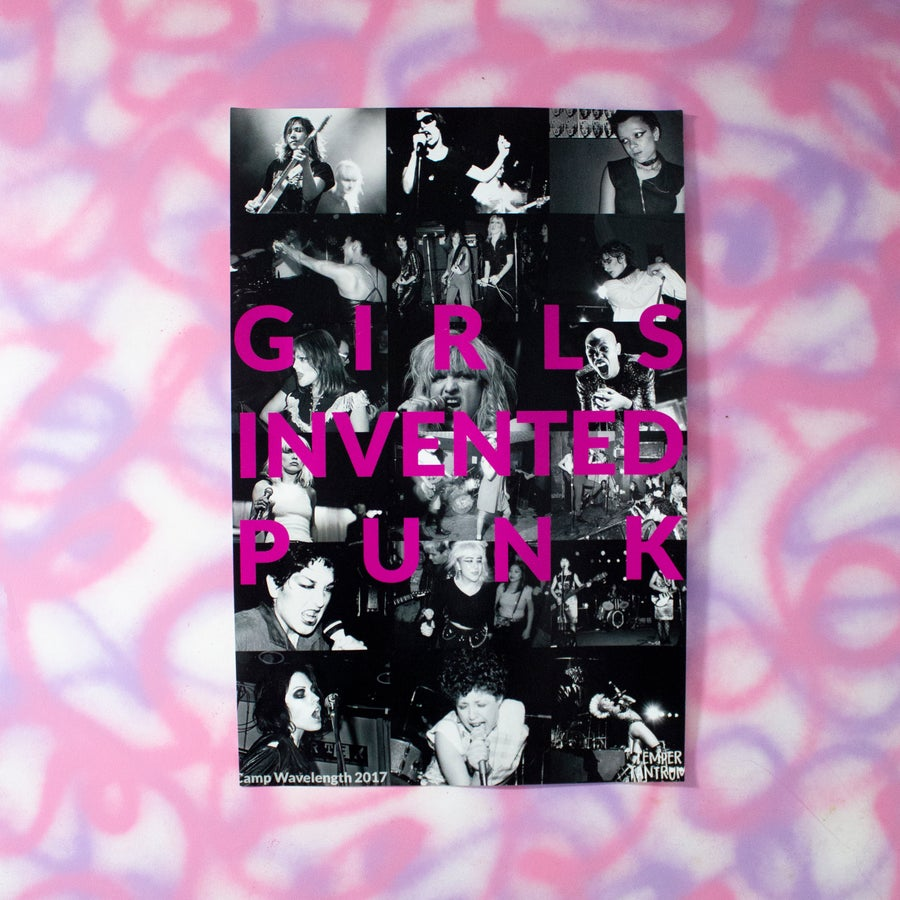Image of Girls Invented Punk Poster
