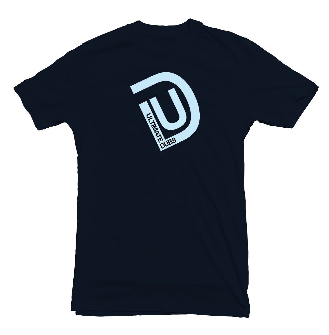 Image of Men's Ultimate Dubs - UD Logo T-Shirt - Navy Blue with Pale Blue Logo