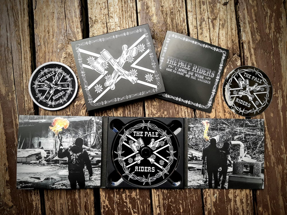 Image of B.M.H & P.W: THE PALE RIDERS - digipack CD bundle with Patch