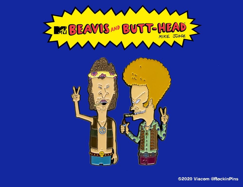 Image of Beavis and Butt-Head - Hippies Enamel Pin Set