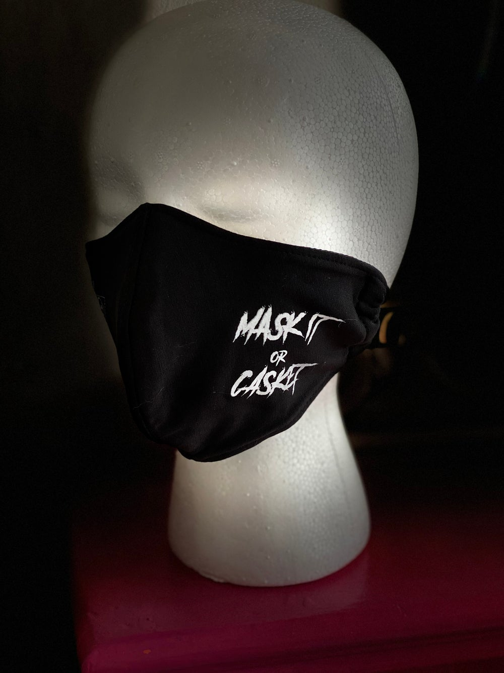 MASK IT OR CASKET (two sided)