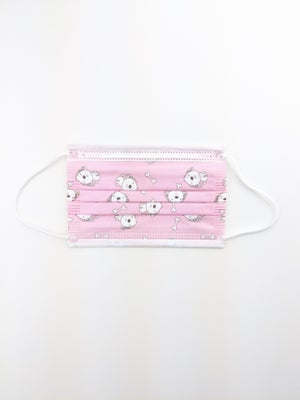 Kids Pink Puppy Mask *Disposable