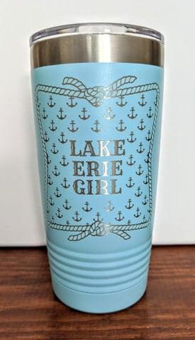 Image of Anchor Print LAKE ERIE GIRL  20oz tumbler