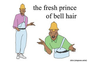 Image of The Fresh Prince of Bell Hair print