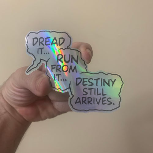 Image of A Titan's Warning (Gauntlet Variant + Sticker) by Clay Graham