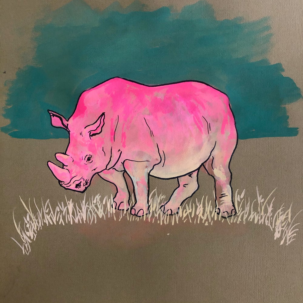 Image of Rhino Medicine painting by Michelle Antonisse