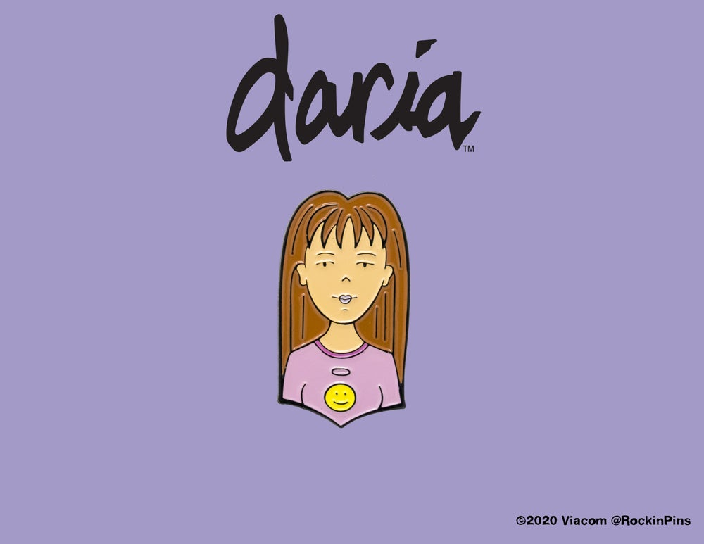 Image of Daria - Quinn Morgendorffer Head Enamel Pin