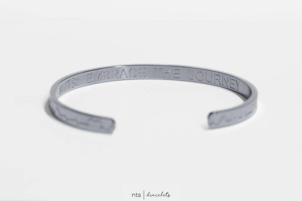 Image of EKG/HEART INSPIRED NTS BRACELET (Limited Edition + Silver)