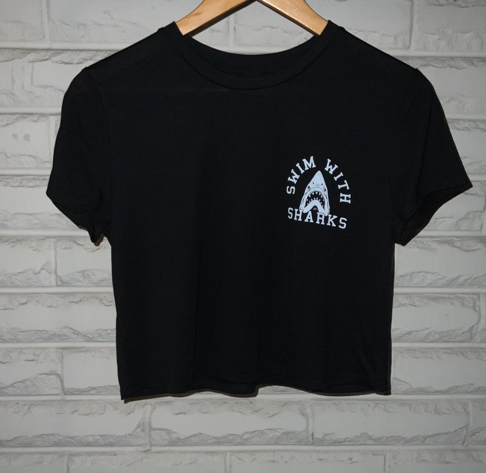 Cropped Shark T- Shirt