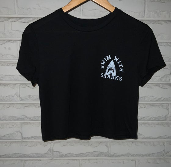Image of  Cropped Shark T- Shirt