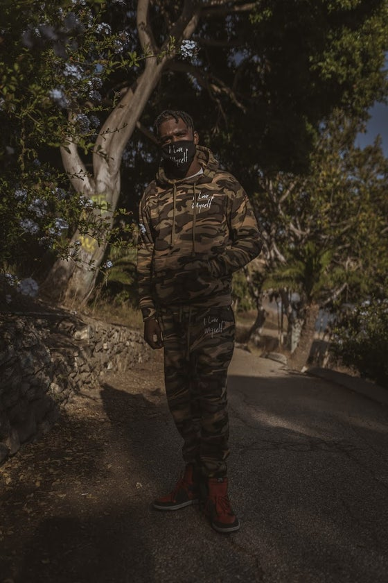 Image of *New Exclusive Camo ILoveMyself sweatsuit