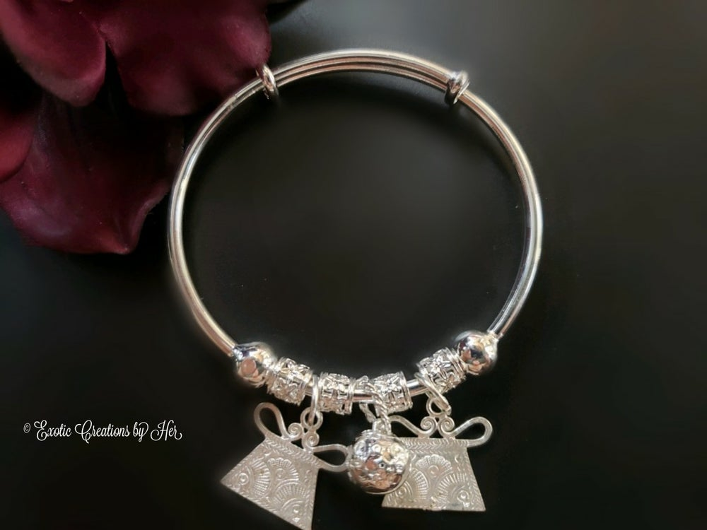 Hmong Adjustable Charm Bangle