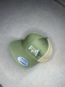 Image of FPA Signature Trucker Hat - Camo/ Tan