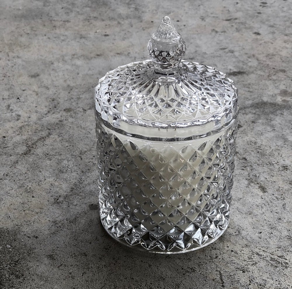 Image of CLEAR GEO CRYSTAL CANDLE