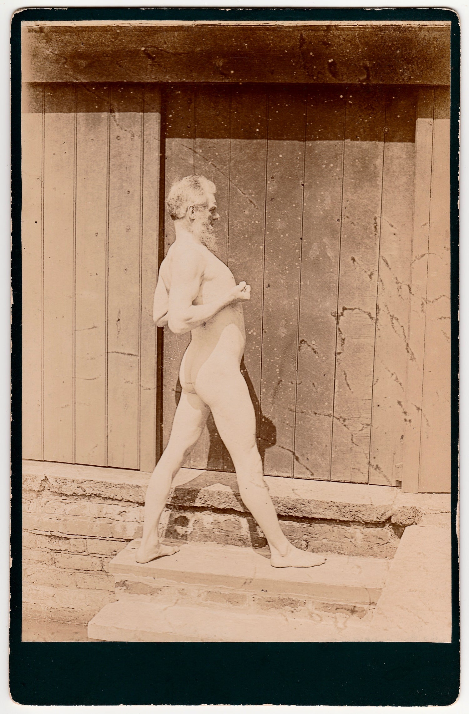 Image of Anonymous: male nude, painter's study, ca. 1880