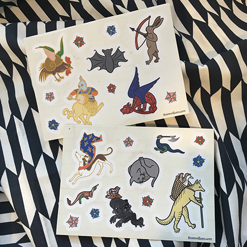 Image of Medieval Menagerie Sticker Sheets