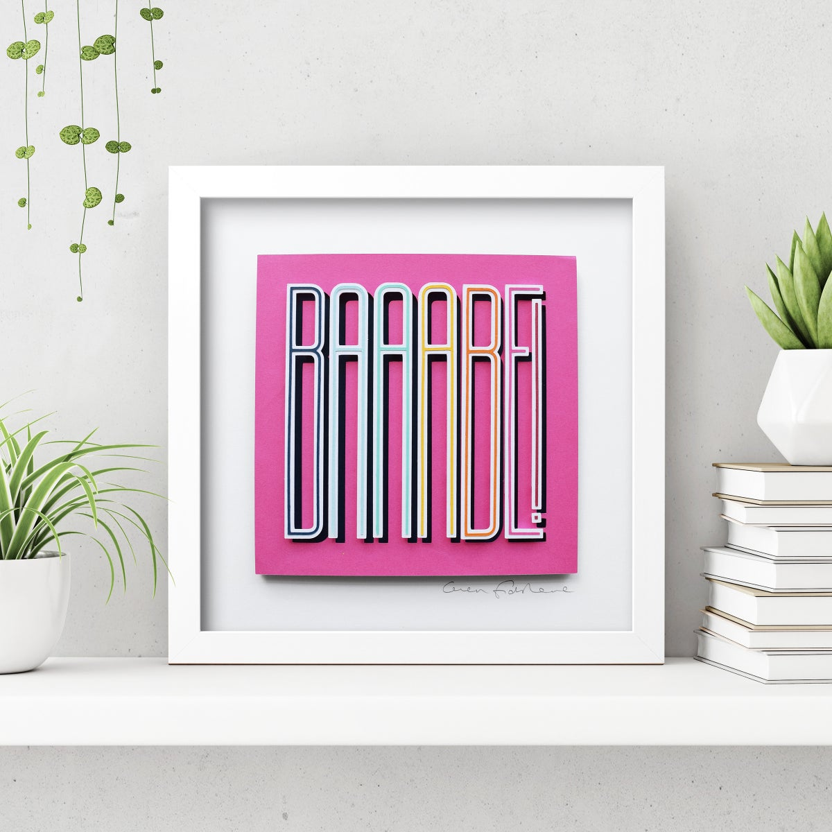 Image of BAAABE – Framed Original Paper Cut Artwork