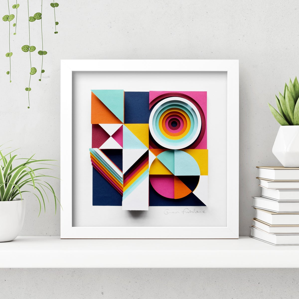 Image of LOVE – Framed Original Paper Cut Artwork