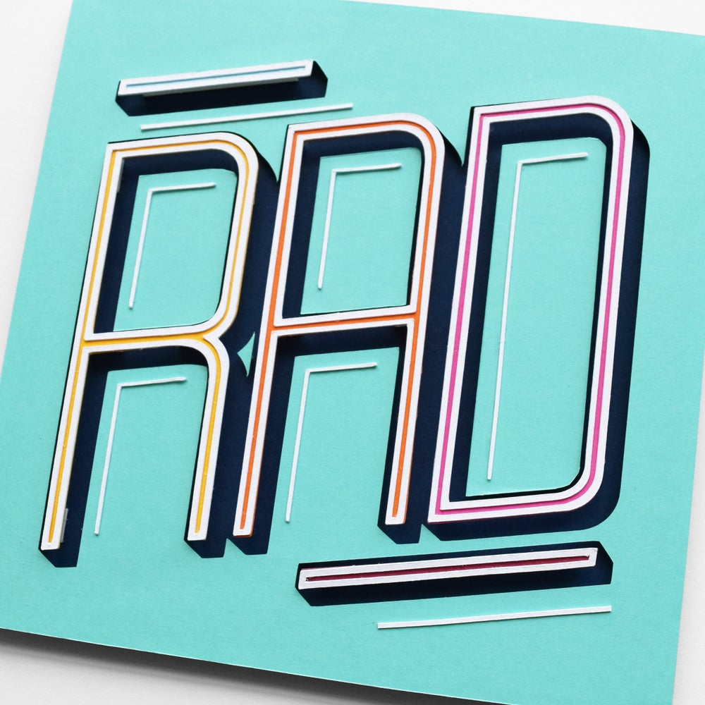 Image of RAD – Framed Original Paper Cut Artwork