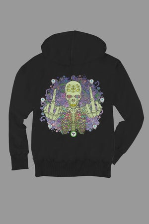 Image of Pitch Skull Zip Hoodie