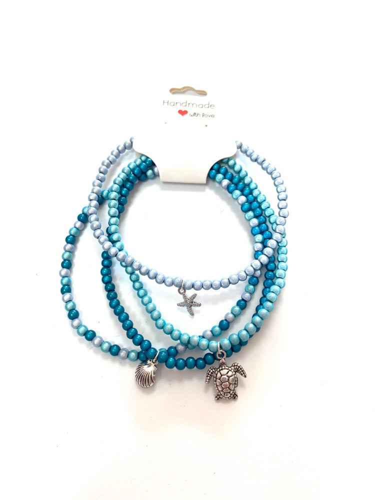 Image of Glow Bead Ankle Bundle - Under The Sea