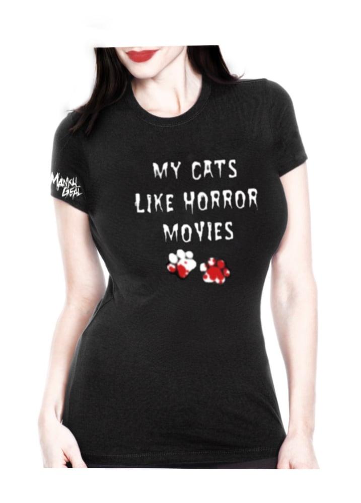 Image of My Cats Like Horror Movies Women's Tee