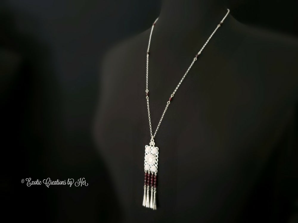 Garnet Blossom Necklace