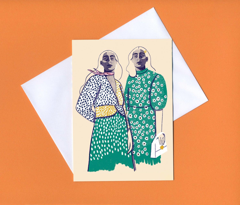 Image of Pals greeting card