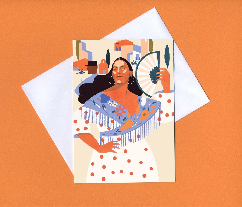 Image of Carmen greetings card