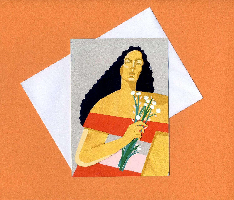 Image of Ulla greetings card