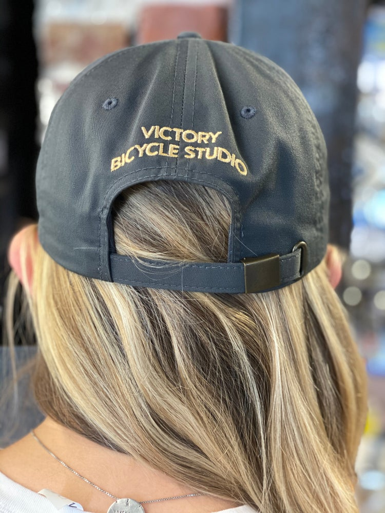 Image of Victory Leather Patch Hats- Gray