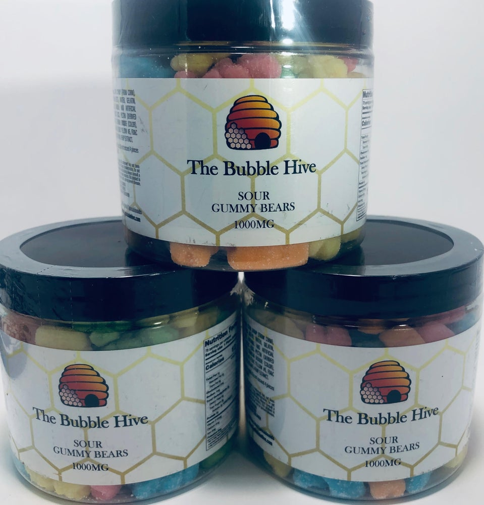 Image of Bubble Hive Brand - CBD Sour Bear Gummies - 1000mg