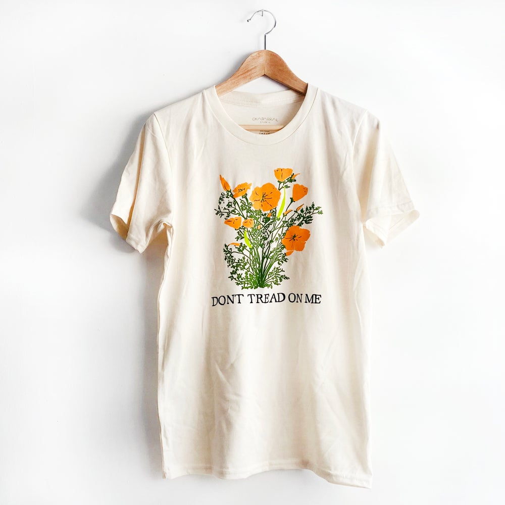 Image of DONT TREAD ON ME  California Poppies Unisex T-shirt