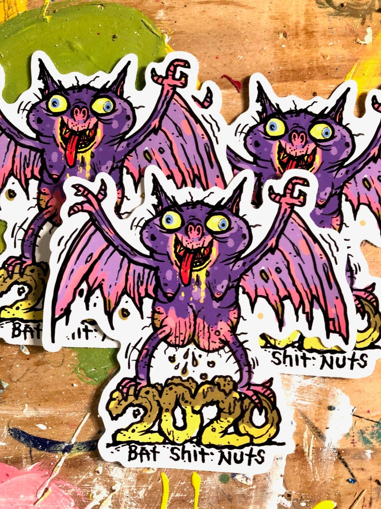Image of Limited run Bat Shit Nuts 2020 stickers (pack of 3)