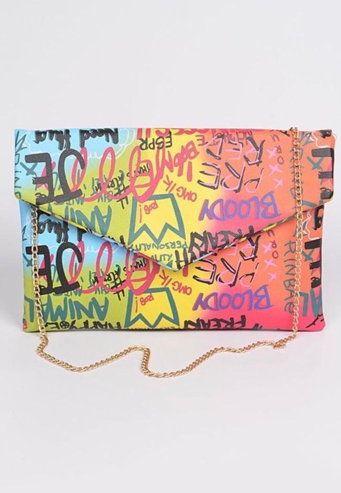 Image of Graffiti Clutch
