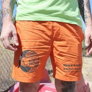 """Monsoon Surf Club"" - Orange Beach Shorts"