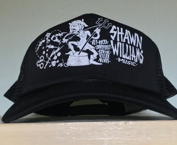 """Image of Shawn Williams """"Vices"""" Alt-rocka countrybilly serial killer blues trucker hat"""